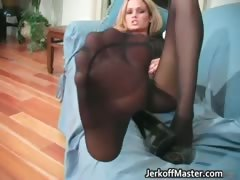 Blond Hottie With Natural Big Juggs Part6